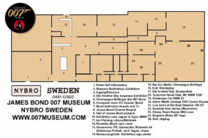 James Bond 007 Museum Nybro Sweden Map 100 sq.m.