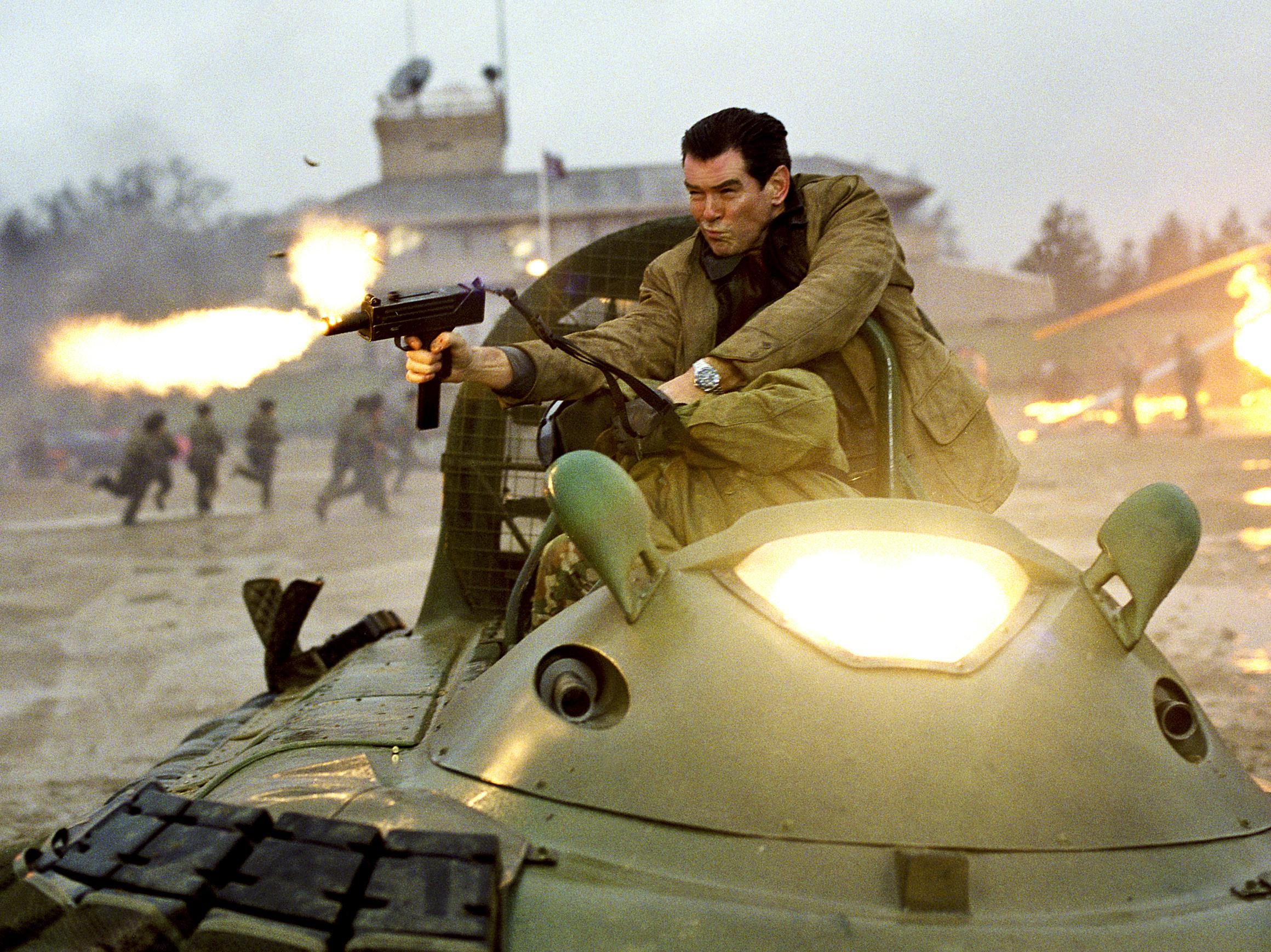 Pierre Brosnan in Die Another Day 2002 with the original Hovercraft.