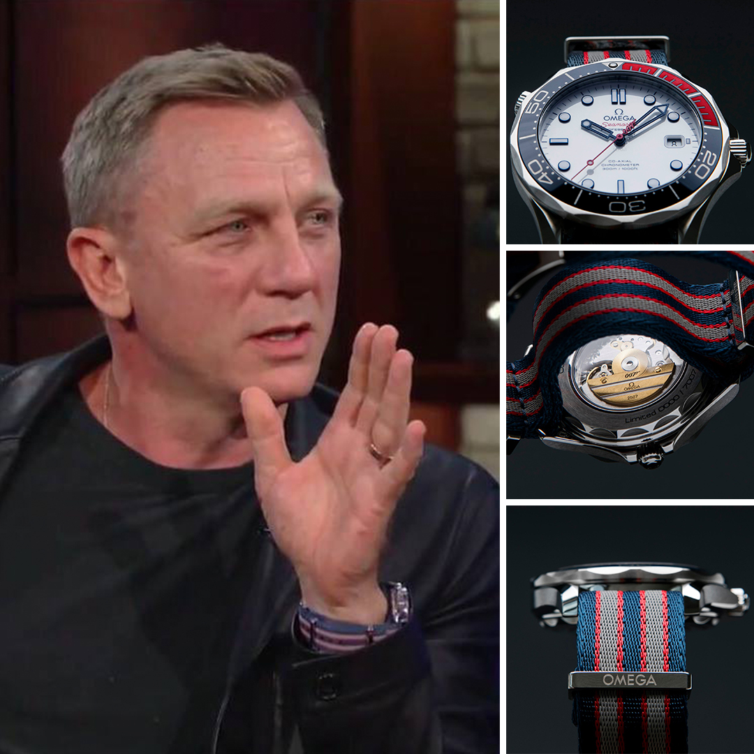"Daniel Craig wore Commander Bond's Watch 16th of August 2017 in ""The Late Show with Stephen Colbert"" when he confirmed that he will return as James Bond in Bond 25."